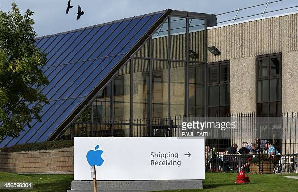 A view of buildings on The Apple campus in Cork southern Ireland on October 2 2014 Perched on top of a hill overlooking the Irish city of Cork...