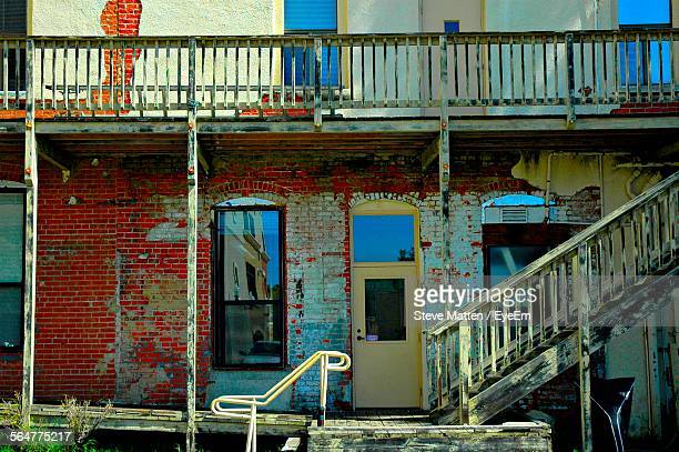 view of built structure with peeled wall - steve matten stock pictures, royalty-free photos & images