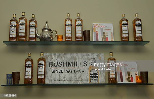 A view of Bushmills Irish Whiskey at Bushmills Irish Whiskey and Elijah Wood launch 'Since Way Back' at a private residence on August 2 2012 in...