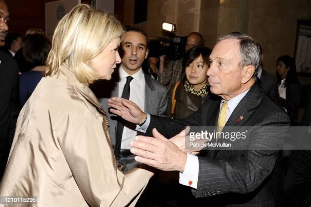 View of businesswoman Martha Stewart and New York City Mayor Michael Bloomberg during Stewart's inaugural 'American Made' Awards at Vanderbilt Hall,...