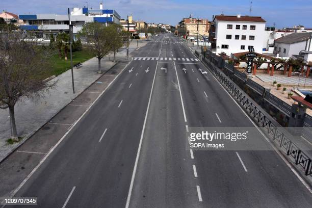 A view of C31 National Highway in the city of Calafell the only access to the city through the cutting of attached roads The City Council of Calafell...