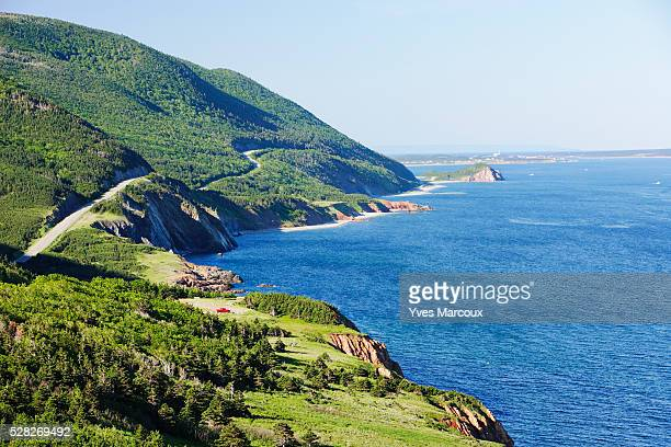 View Of Cabot Trail And Gulf Of St. Lawrence, Cape Breton Highlands National Park, Nova Scotia, Canada