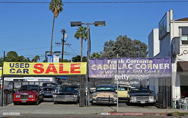 A view of Cadillac Corner in West Hollywood on September 01 2014 in Los Angeles California