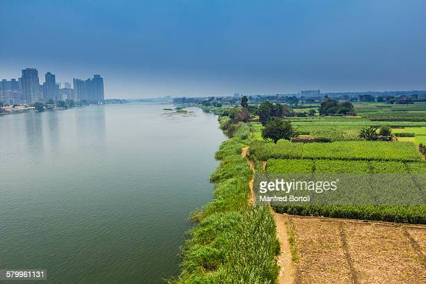 A view of Cairo city from a bridge