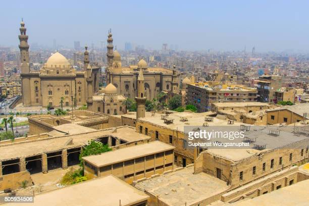 view of cairo city from citadel - cairo stock pictures, royalty-free photos & images