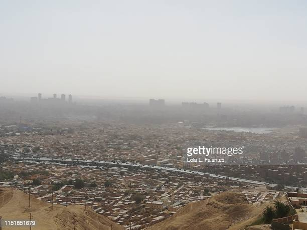 View of Cairo's City of the dead from Mokattam hills