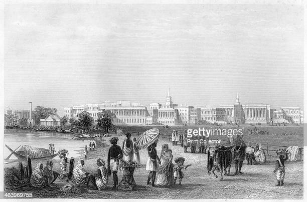 'View of Calcutta from the Esplanade' c1860 The city of Kolkata in West Bengal India during the period of East India Company rule Illustration from...