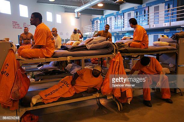 View of California State Prison–Los Angeles County in Lancaster Friday March 3 2007 Inmates fill a converted dayroom which is being used as temporary...
