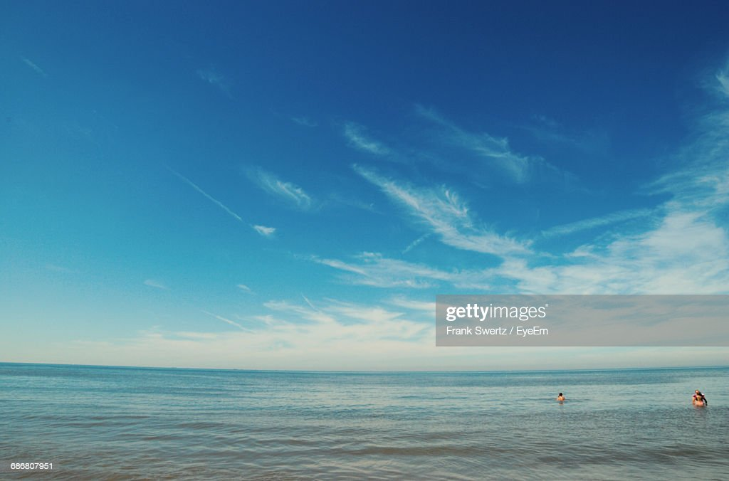 View Of Calm Blue Sea Against Sky : Stock-Foto