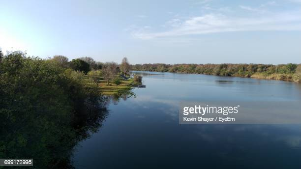 view of calm river - lake okeechobee stock pictures, royalty-free photos & images
