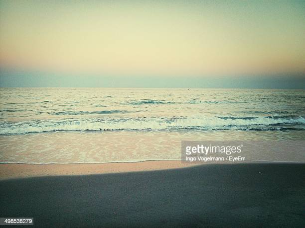view of calm sea against clear sky - delray beach stock pictures, royalty-free photos & images