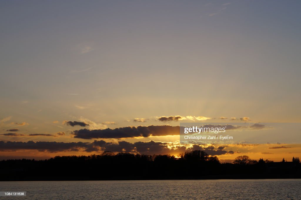 View Of Calm Sea At Sunset : Stock Photo