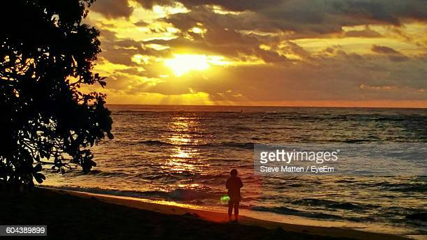 view of calm sea at sunset - steve matten stock pictures, royalty-free photos & images