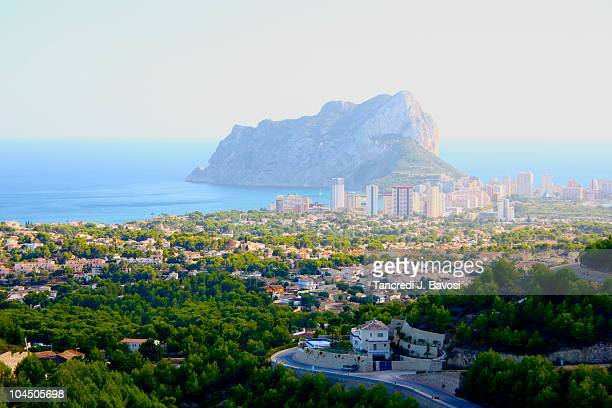 view of calpe - bavosi stock pictures, royalty-free photos & images