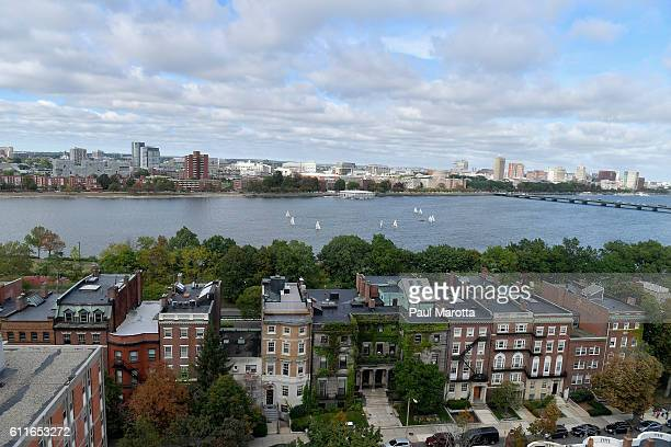 View of Cambridge and the Charles River from the Boston side on September 30, 2016 in Boston, Massachusetts.
