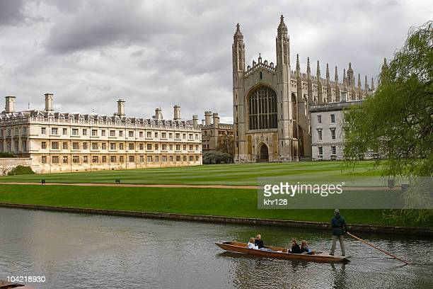 View of Cambridge university and a punt