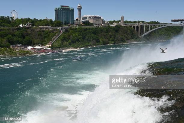 A view of Canada is seen from the US side at Niagara Falls State Park in Niagara Falls New York on June 22 2019