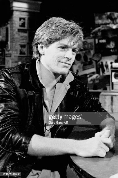 View of Canadian Pop musician Bryan Adams during an interview at MTV Studios, New York, New York, May 6, 1983.