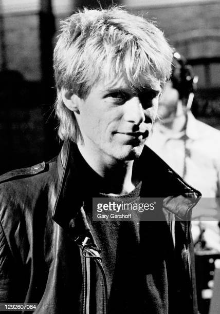 View of Canadian Rock musician Bryan Adams during an interview at MTV Studios, New York, New York, April 1, 1982.