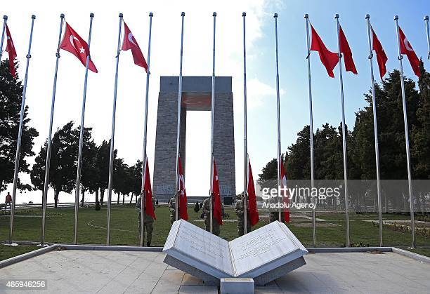 A view of Canakkale Martyrs' Memorial in Gallipoli Peninsula located in Turkish Thrace the European part of Turkey in Canakkale Turkey on March 12...