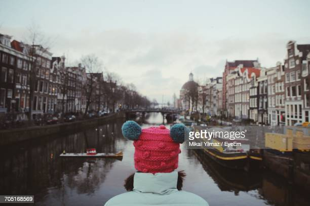 View Of Canal In City During Winter