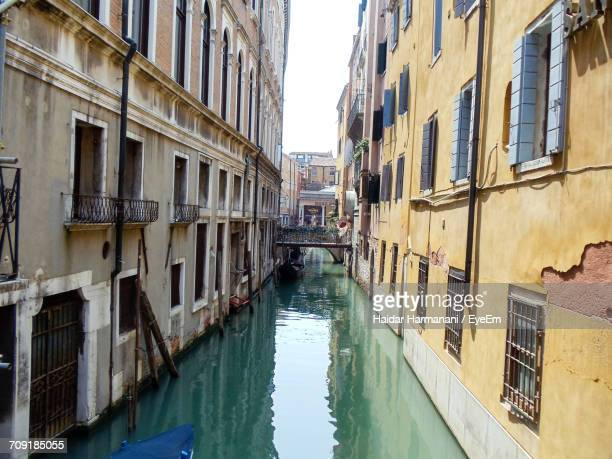 View Of Canal In City