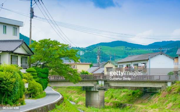 View of Canal in Yufu city in Yufuin, Oita, Japan