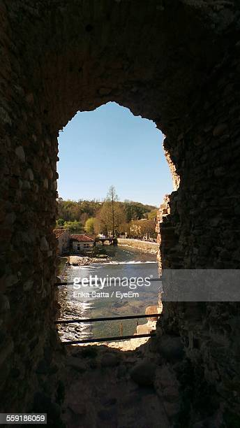 View Of Canal Through Old Ruin
