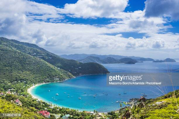 view of cane garden bay - image stock-fotos und bilder