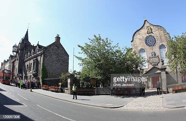 View of Canongate Kirk prior to royal wedding rehearsal for Zara Phillips And Mike Tindall at Canongate Kirk on July 29, 2011 in Edinburgh, Scotland....
