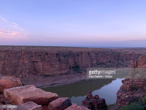 view of canyon with river, grand canyon of india, jammalamadugu, india - nature stock pictures, royalty-free photos & images