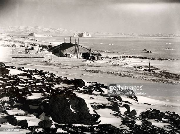 A view of Cape Evans from the Ramp photographed during the last tragic voyage to Antarctica by Captain Robert Falcon Scott circa October 1911 Scott...