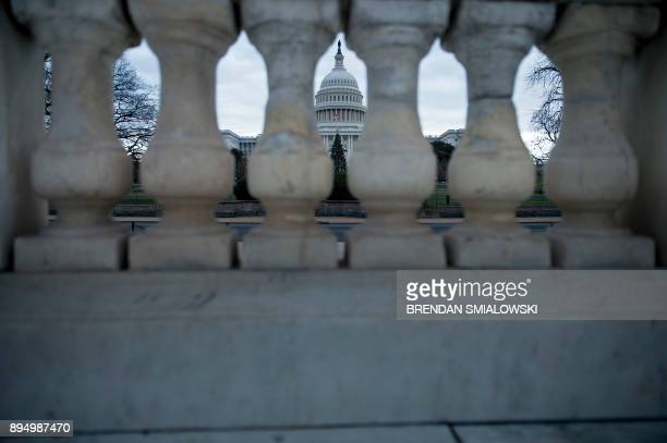 A view of Capitol Hill December 18 2017 in Washington DC / AFP PHOTO / Brendan Smialowski