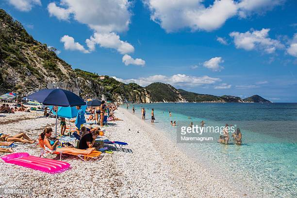view of capobianco beach - livorno stock pictures, royalty-free photos & images