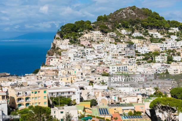 View of Capri village. Capri island, Naples, Campania, Italy