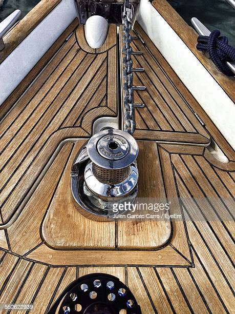 View Of Capstan On Yachts Deck