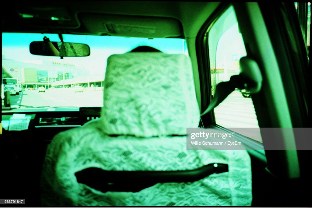 View Of Car Interior From Back Sit Perspective : Foto stock