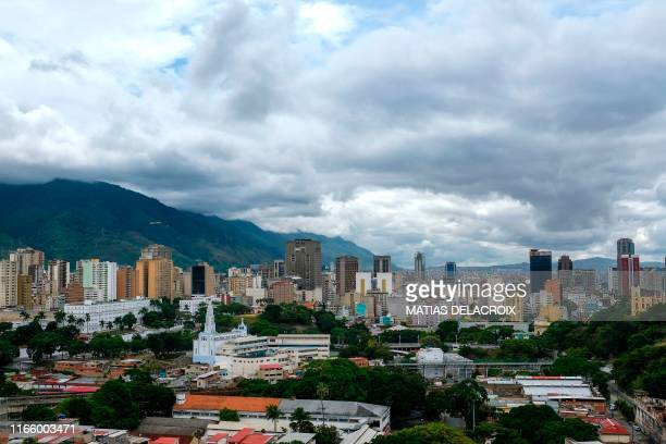 View of Caracas taken from the Museo Historico Militar in 23 de Enero neighbourhood on September 4 2019 In addition to the political standoff...