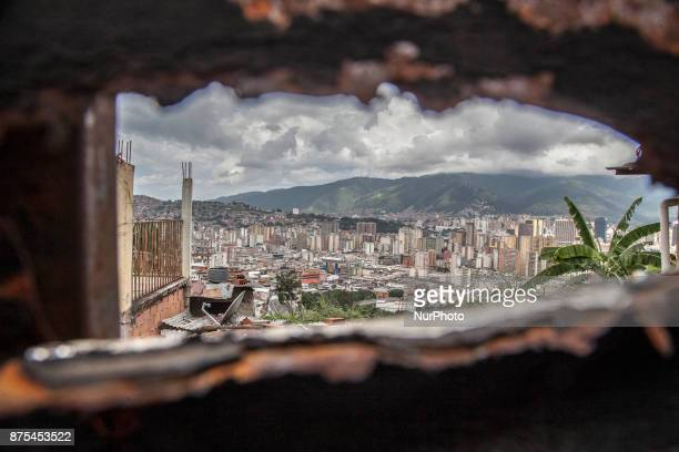 View of Caracas Venezuela on 17 November 2017 With high inflation low wages lack of food and medicine and cash Venezuela is plunged into a dramatic...