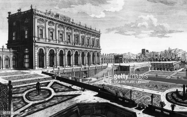 View of Cardinal Alessandro Albani's villa outside Porta Salaria in Rome 1769 engraving by Giovanni Battista Piranesi Italy 18th century