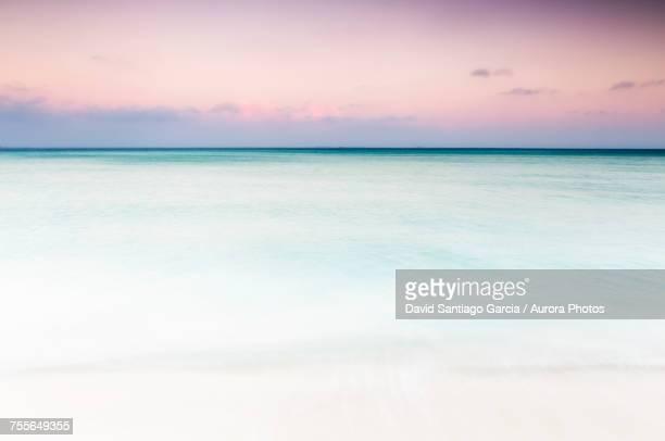 View of Caribbean Sea at sunset, Isla Mujeres, Yucatan Peninsula, Mexico