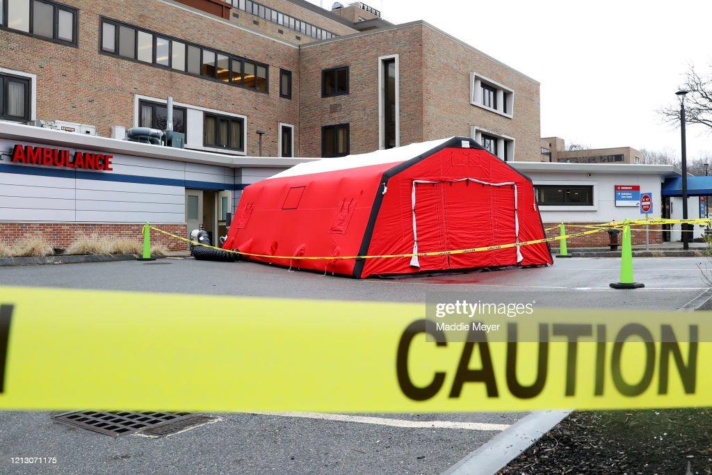Coronavirus Testing Sites Set Up Around Boston Area : News Photo