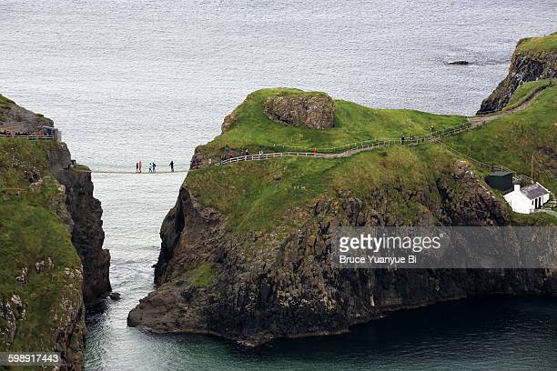 View of Carrick-a-Rede Rope Bridge