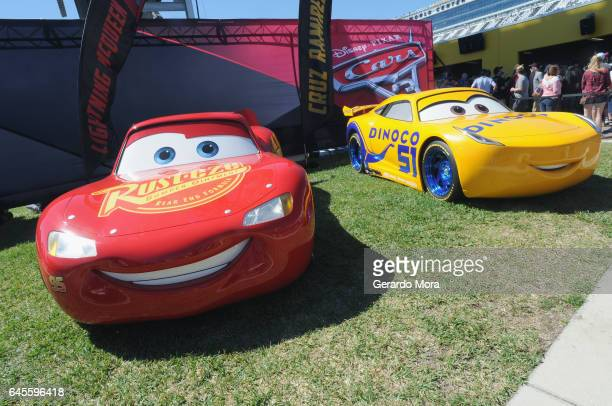View of 'Cars 3' Lightning McQueen and Cruz Ramirez during the 59th Annual DAYTONA 500 at Daytona International Speedway on February 26 2017 in...