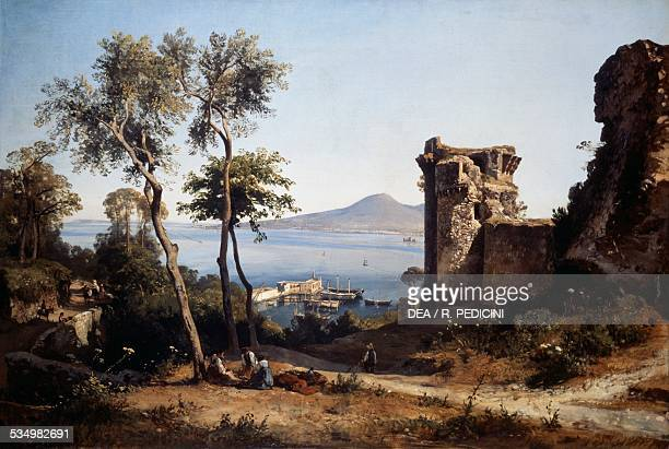 View of Castellammare di Stabia by Giacinto Gigante oil on canvas Italy 19th century