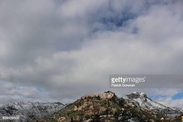 View of Castelmola, Sicily, Italy