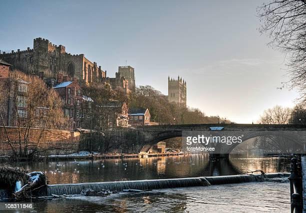 HDR Blick auf das Schloss und die Kathedrale, Durham, Großbritannien