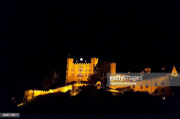 CONTENT] View of Castle Hohenschwangau night in the village of Schwangau near the town of Fussen Bavaria Germany Vista do Castelo de Hohenschwangau a...