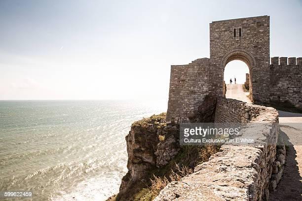 View of castle on coast at Kaliakra, Bulgaria