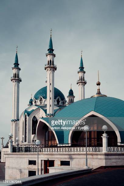 view of cathedral and buildings against sky. mosque - カザン市 ストックフォトと画像
